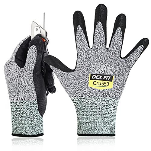 DEX FIT Level 5 Cut Resistant Gloves Cru553, 3D Comfort Stretch Fit, Power...