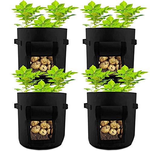 HAHOME Nonwoven Fabric Vegetable Garden Box, Smart Plant Growing Bags Pots...