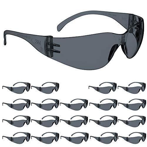 3M Safety Glasses, Virtua, ANSI Z87, 20 Pairs, Gray Hard Coat Lens, Gray...
