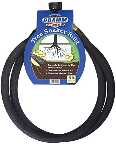 Dramm Corporation 10-17052 Color Storm Tree Soaker Ring, 5-feet,Black
