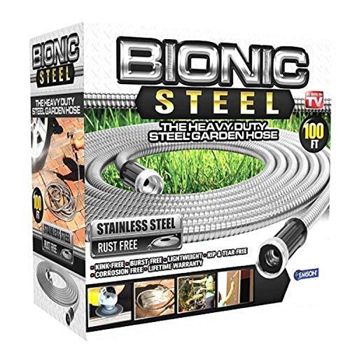 Bionic Steel 100 Foot Garden Hose 30.4 Stainless Steel Metal Water Hose –...