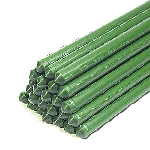 YIDIE Sturdy Metal Garden Plant Stakes 4 Ft Plastic Coated Steel Plant...