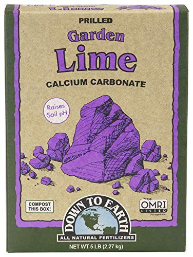 Down to Earth Organic Garden Lime Calcium Carbonate, 5lb