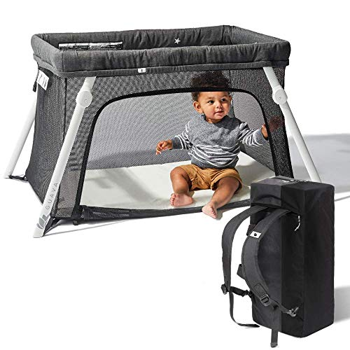 Lotus Travel Crib - Backpack Portable, Lightweight, Easy to Pack Play-Yard...