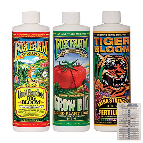 FoxFarm Liquid Nutrient Trio Soil Formula: Big Bloom, Grow Big, Tiger Bloom...