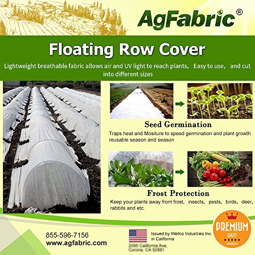 Agfabric Floating Row Covers 2.0oz 10x30ft Frost Cloth for Freeze...