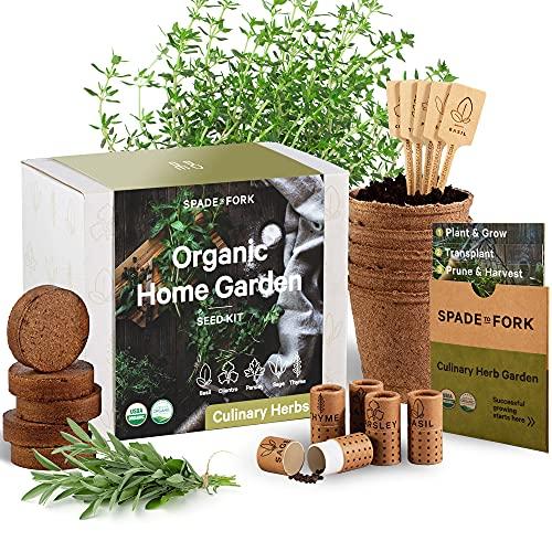 Indoor Herb Garden Starter Kit - Certified USDA Organic Non GMO - 5 Herb...