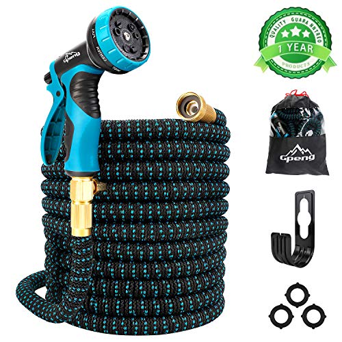 Gpeng Sunhoo 100ft Expandable Garden Hose, Upgraded Water Collapsible Hose...