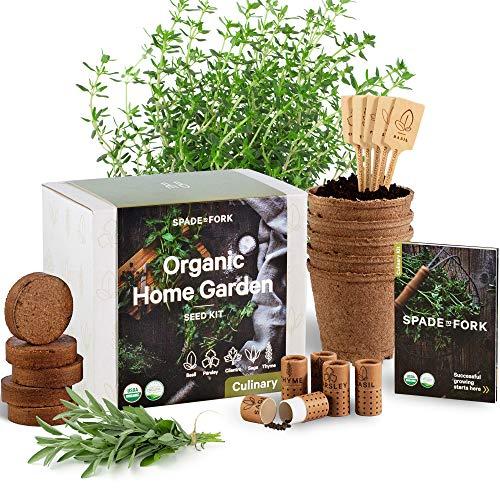 Indoor Herb Garden Starter Kit - Certified 100% USDA Organic Non GMO -...