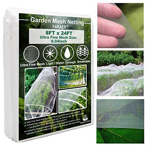 Ultra Fine Garden Mesh Netting, Plant Covers 8'x24' Garden Netting for...