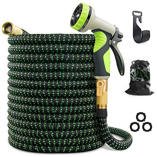 VIENECI 100ft Garden Hose Expandable Hose, Durable Flexible Water Hose, 9...