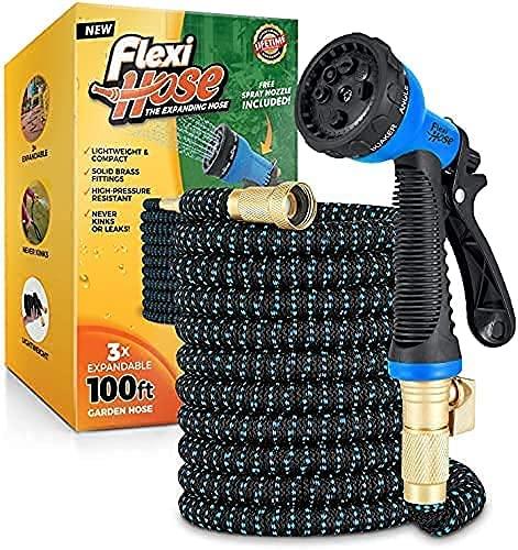 Flexi Hose with 8 Function Nozzle, Lightweight Expandable Garden Hose,...