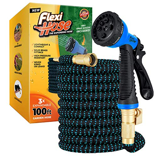 Flexi Hose with 8 Function Nozzle, Lightweight Expandable Garden Hose,...