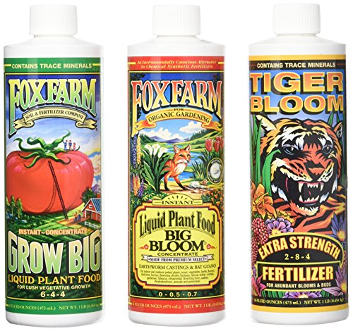 Fox Farm Liquid Nutrient Trio Soil Formula - Big Bloom, Grow Big, Tiger...