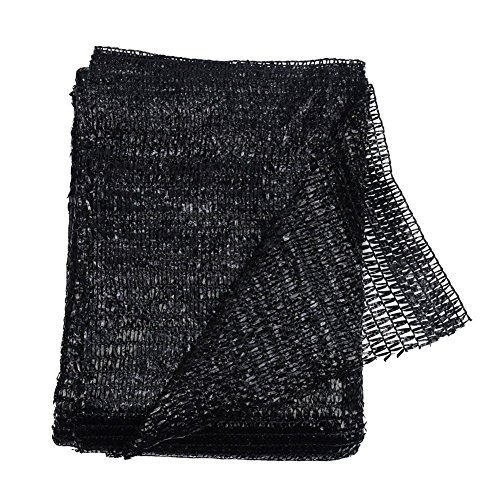 40% Black 6.5'x10' Sun Mesh Shade Sunblock Shade UV Resistant Net for...