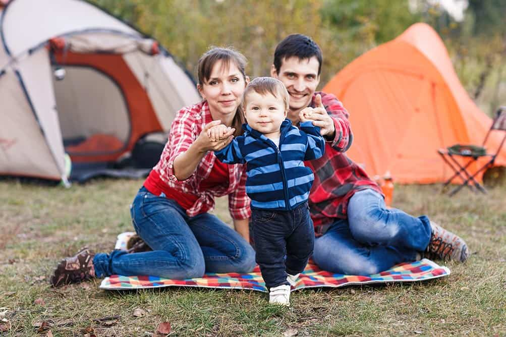family camping with a toddler